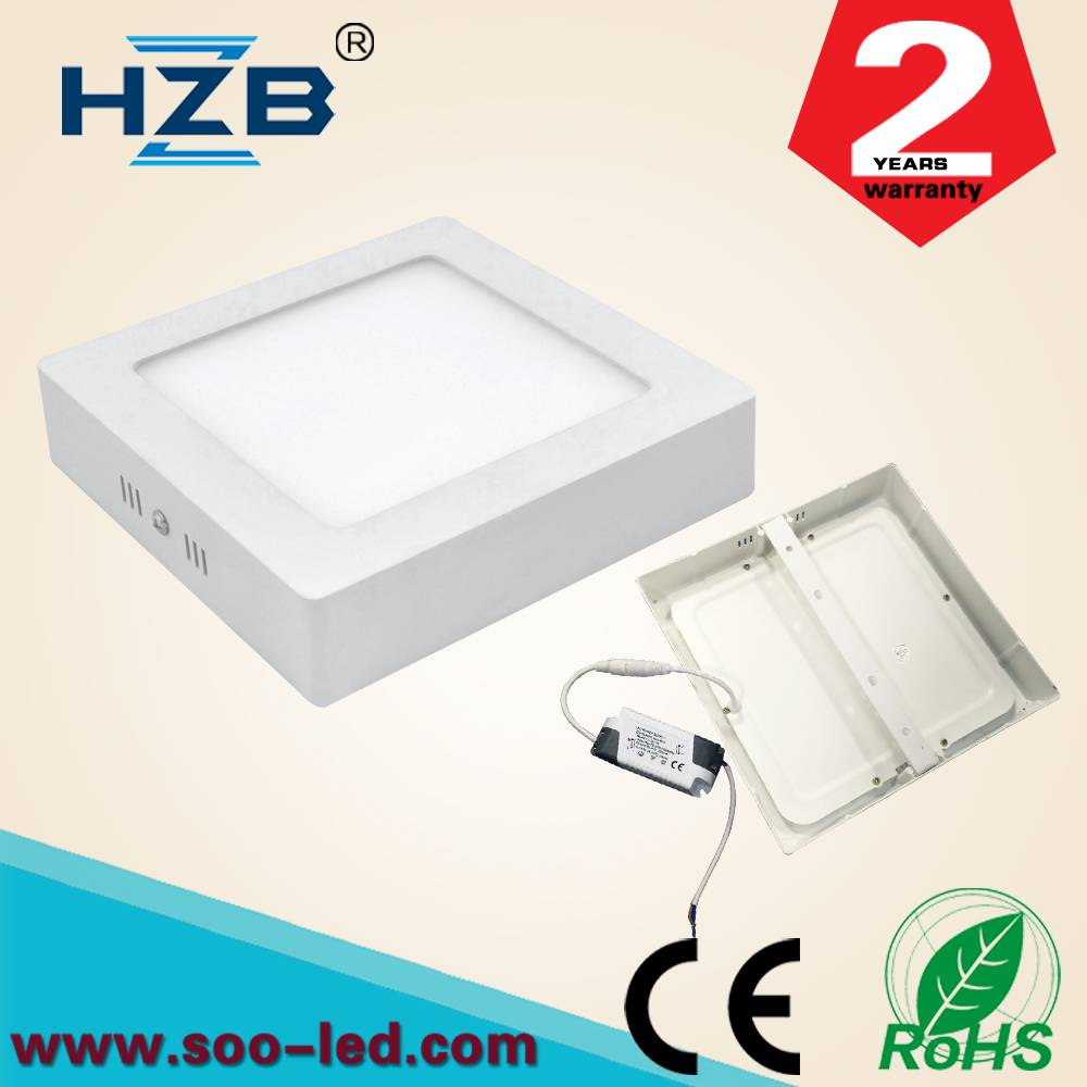 square 6w led surface mounted panel light