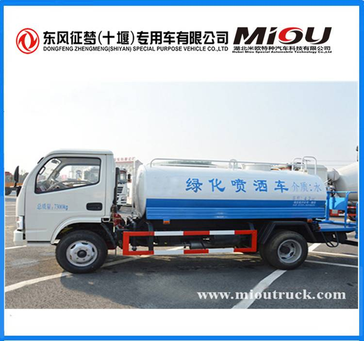 Dongfeng 4X2 5CBM water tanker transport truck DFA1070SJ35D6 for sale