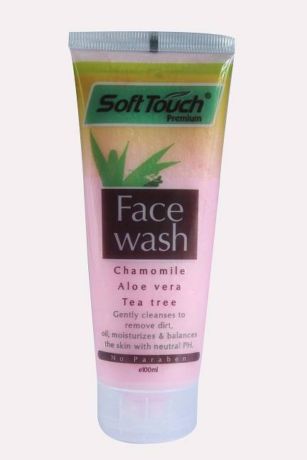 Soft Touch Face Wash (Chamomile,AloeVera,Tea tree)(Pink)