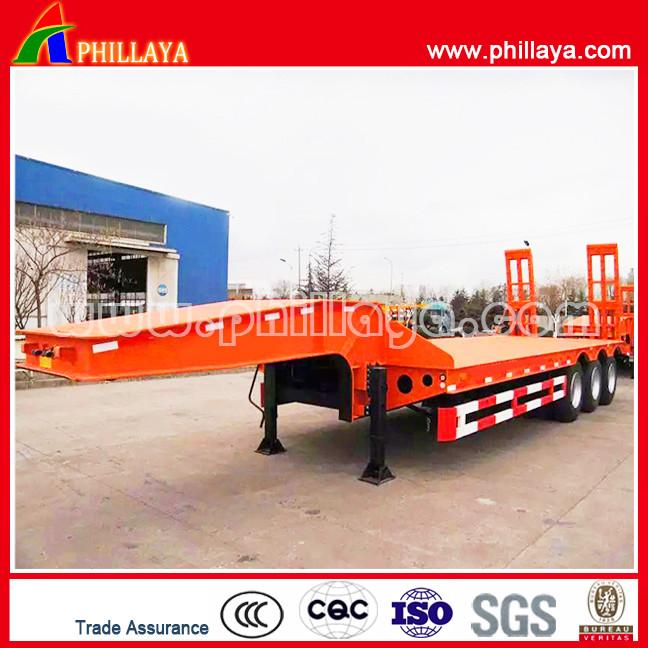 3 Axle 40ton 60ton 80ton lowbed semi trailer