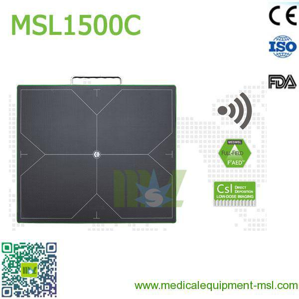 Cassette-Size Digital Wireless flat panel x ray detector MSL1500C