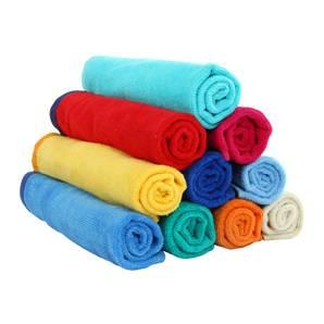 Pure color bath towel