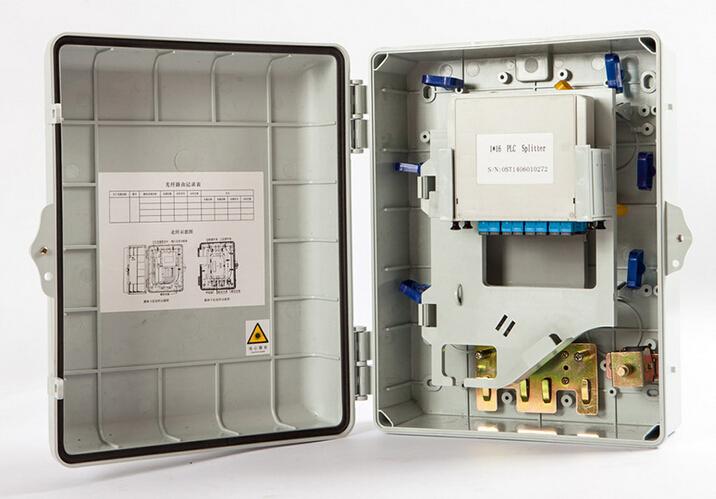 Supply 8 Port FTTH Fiber Optic Terminal Box Fiber Optic Distribution Box