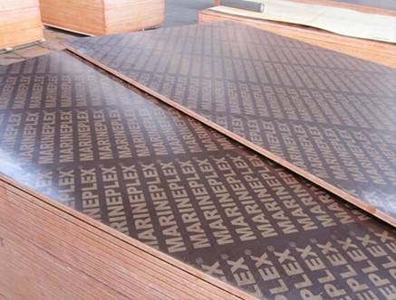 WBP film faced plywood , high quality film faced plywood