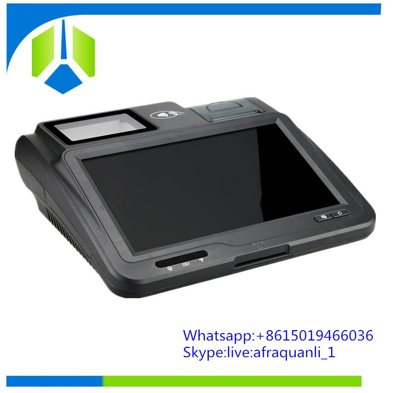 New arrival mobile pos terminal with thermal printer,bar
