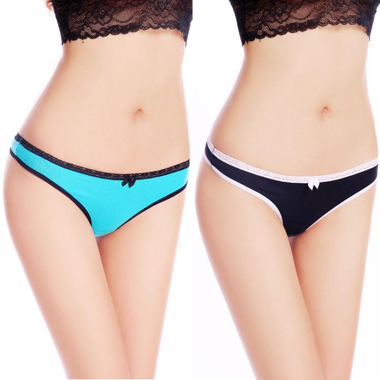 Yun Meng Ni underwear comfortable cotton and sexy bikini g-string young girls sexy underwear women t