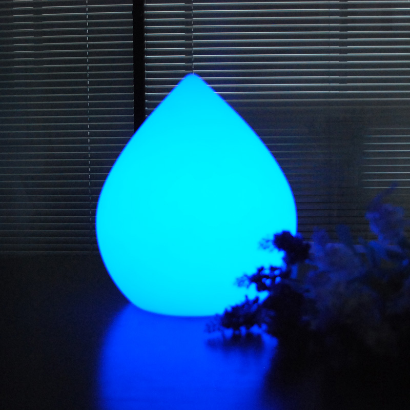 Peach Shape Power Outlet Hotel Decorative Small PE Cordless LED Table Lamp