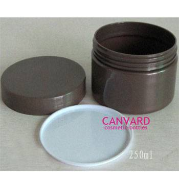 250g PET empty plastic jar, cosmetic packaging jar, PET plastic lotion jar, face cream jars
