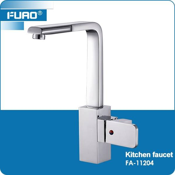 Deck mounted single handle kitchen tap