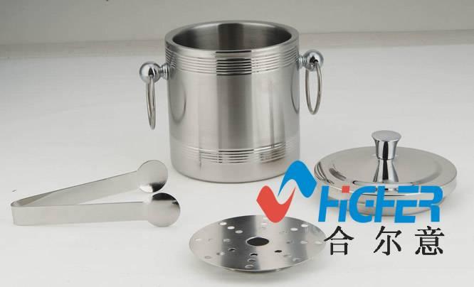 Metal creative custom stainless steel ice bucket double wall Ice Bucket metal ice bucket