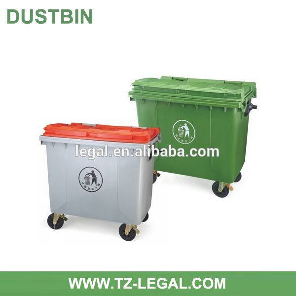 1100l Large Plastic Dustbin with Wheels