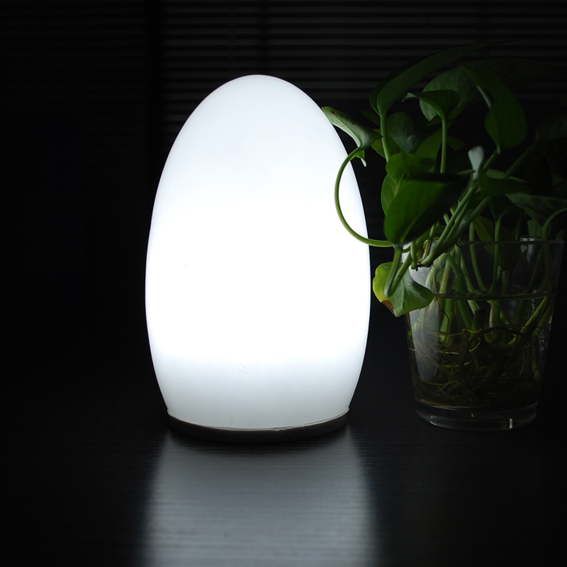 Egg Shape Portable Rechargeable Battery Powered Indoor Lighting Cordless Table Lamp