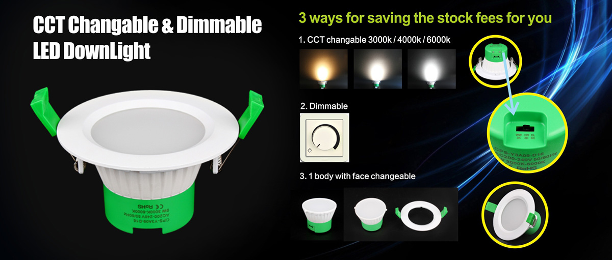 Crep 9W CCT Changeable Triac Dimmable LED Down Light