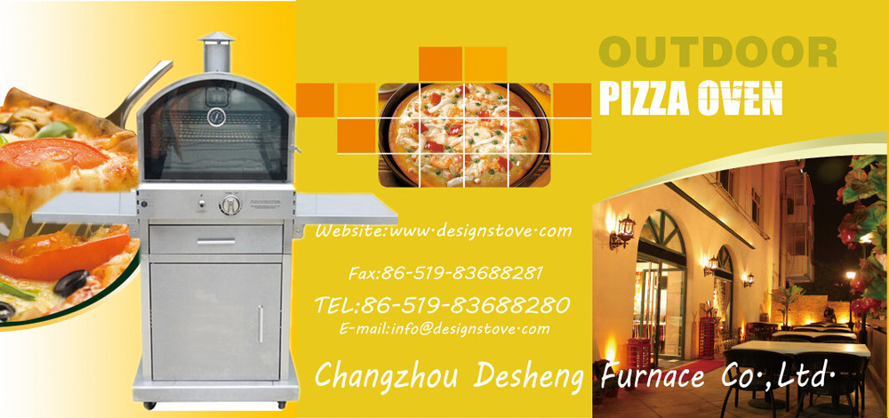 Freestanding stainless steel grill machine with pizza oven outdoor