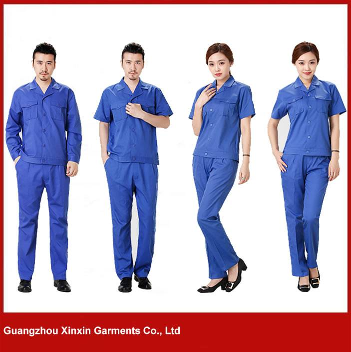 customized design industrial uniforms blue wear rough workwear jacket and pants