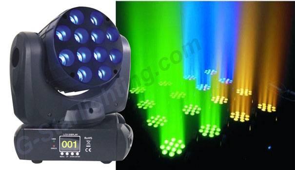 12X12W led beam moving head light