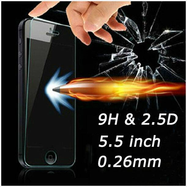 premium tempered glass screen protector for iphone 6 0.3mm 2.5d Round edge oleophobic coating 9h,man