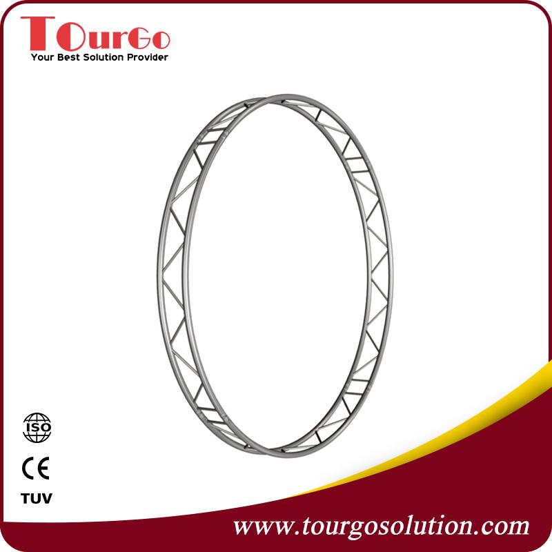 Flat Aluminum Vertical Circle Truss for DJ Laser Lights Diameter 1.5m