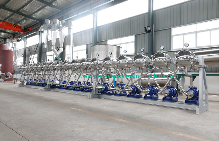 Hydrocyclone machine of potato starch processing plant