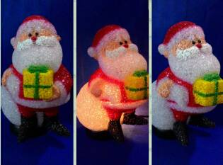 EVA&LED Christmas decorative ligts,Santa with present and package,xmas lights