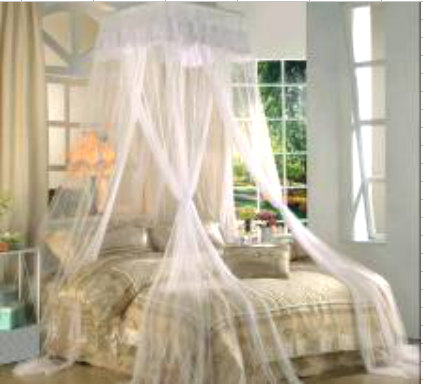 MOSQUITO BED NET-PLASTIC POLE (SQUARE)