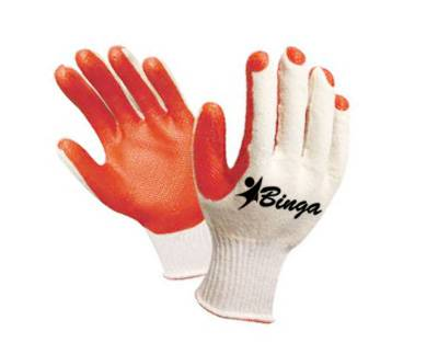 Laminated 7G/10G Bleached T/C Shell Safety Glove