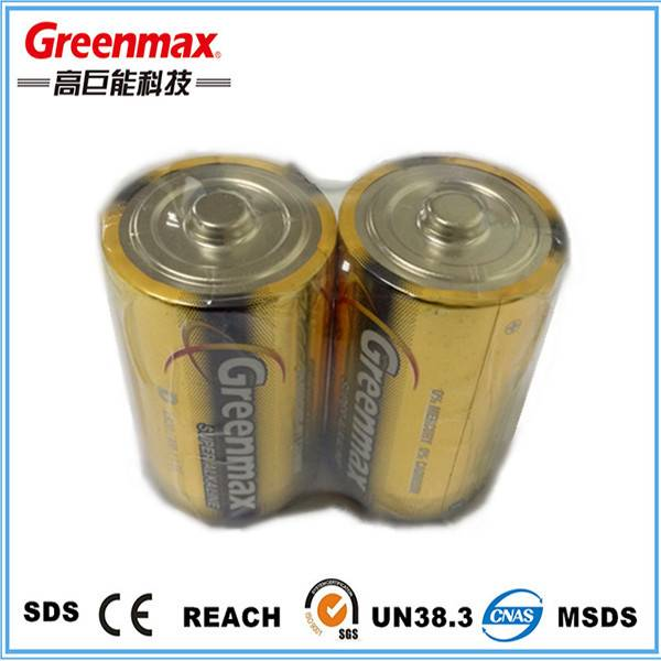 Hot sale Zn/MnO2 alkaline 1.5v battery lr20