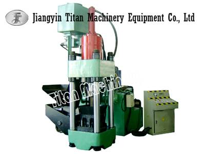 hydraulic metal chips  briquetting press
