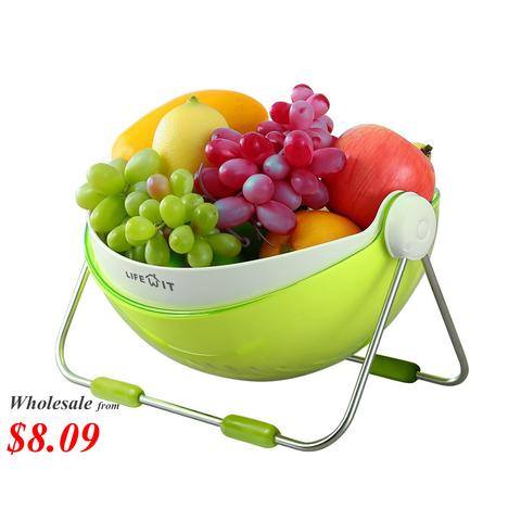Lifewit 360 Rotatable Lid Fruit Washing Bowl