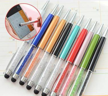 Promotion Twist Crystal Stylus Touch Ball Pen for Tablet/iPad/iPhone/Mobile