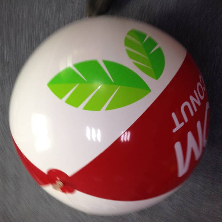 Giant plastic inflatable beach ball