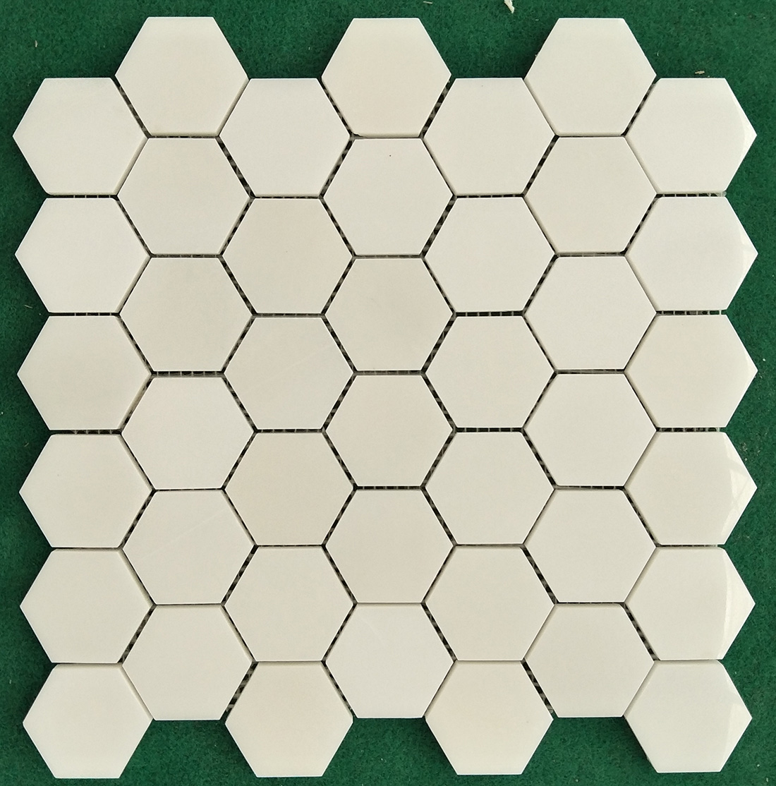Hexagon natural marble mosaics tiles