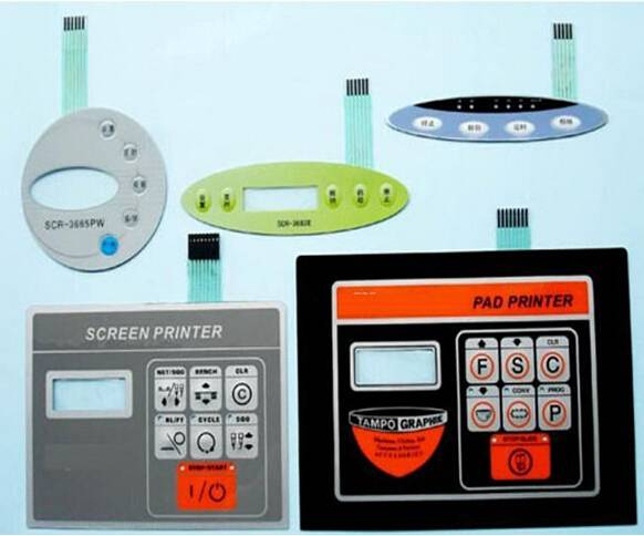 Customized PVC/PC/PET Keypads plastic Switch Panel
