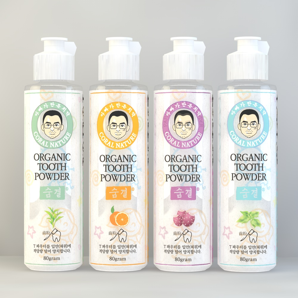 Organic toothpaste. Toothpowder