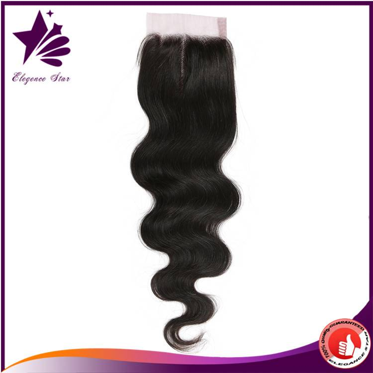 Tianrun Factory Real Human Hair Unprocessed Brazilian Body Wave Closure Cheap Brazilian Virgin Hair