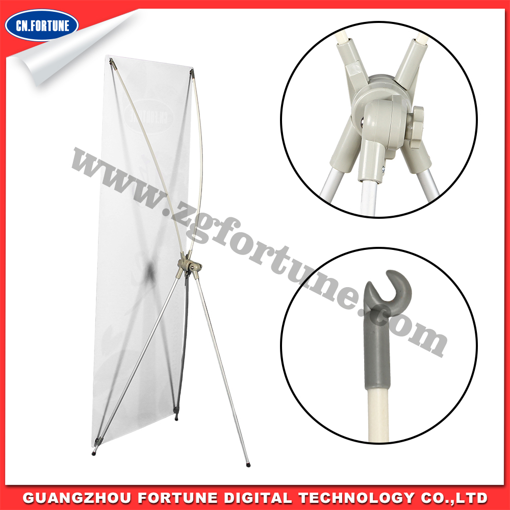 Large Size Korean Style Aluminum X Banner Stand
