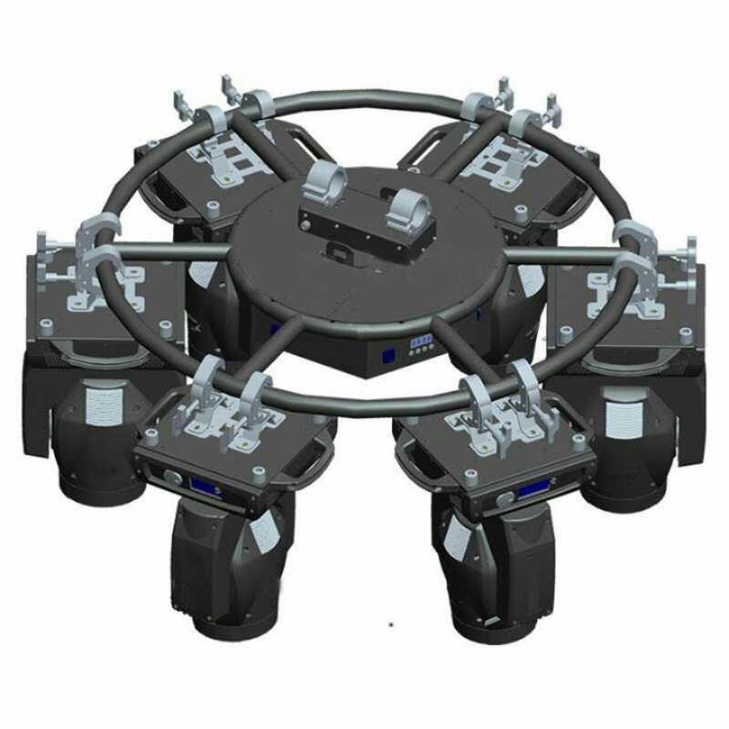 aluminium 6061 rotating circle truss dj party wedding effect for moving head light