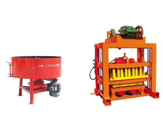 semi-automatic QT4-40 concrete brick making machine
