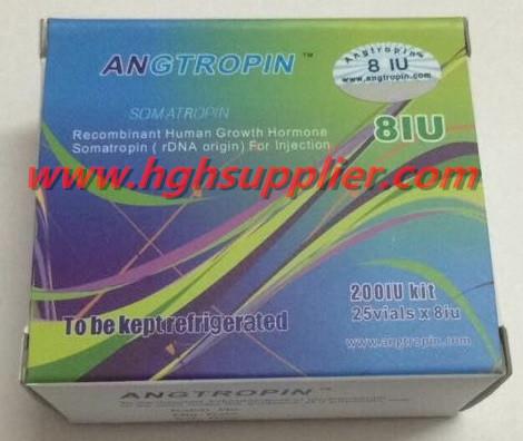 Angtropin 200IU Kit,8iu/vial 25vials,Genuine HGH with Anti-counterfeiting Code.