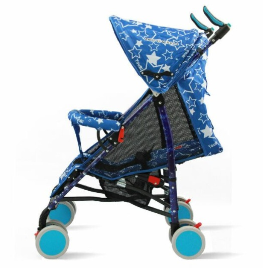 Adjustable shank rest Baby Stroller Blue stars CZ-XYY-07