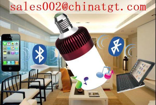hot selling led light bulb speaker