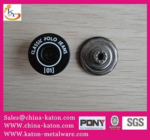 jean button garment accessories snap button plastic inside button