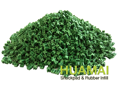 TPE rubber infill granules for artificial turf