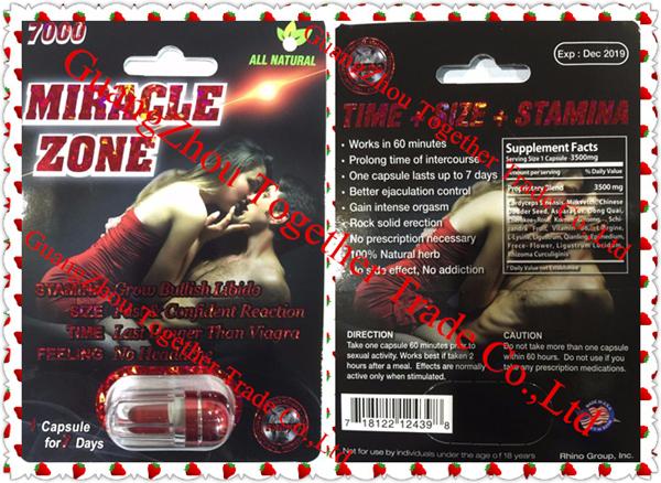 NEW RHINO Miracle Zone 7000 Platinum Male Sexual Enhancer Capsule GENUINE