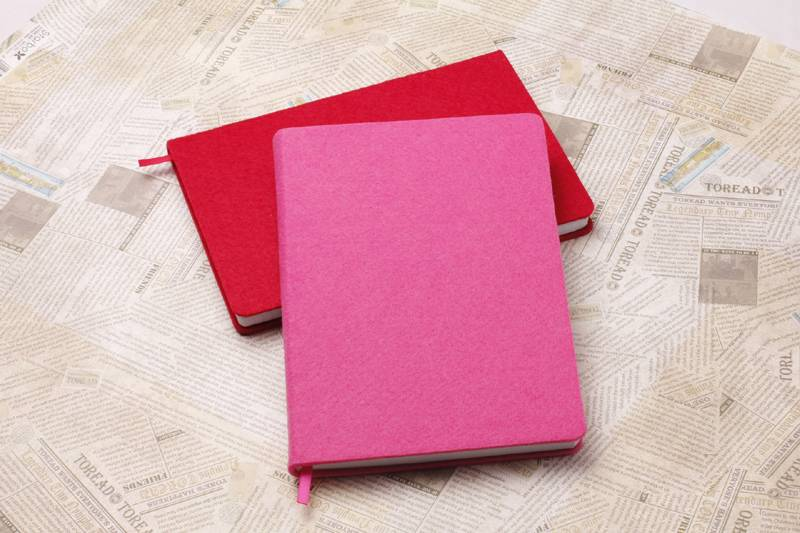Felt Cover Jotter/Notebook/Notizbuch/Taccuino/Cuaderno