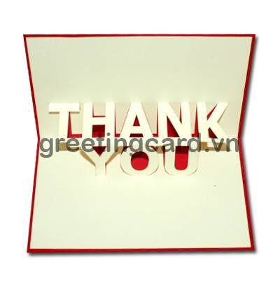 Thank you 3D pop up greeting card