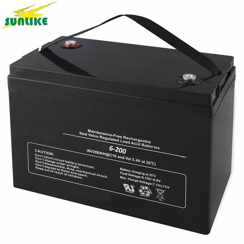 High Quality VRLA AGM Battery 6V100ah for Solar Power