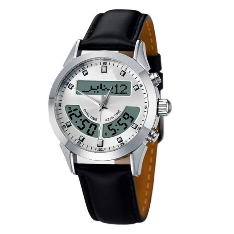 Azan Watch-03 Azan Muslim prayer alarms Qur'an bookmark Mecca sensor waterproof watch