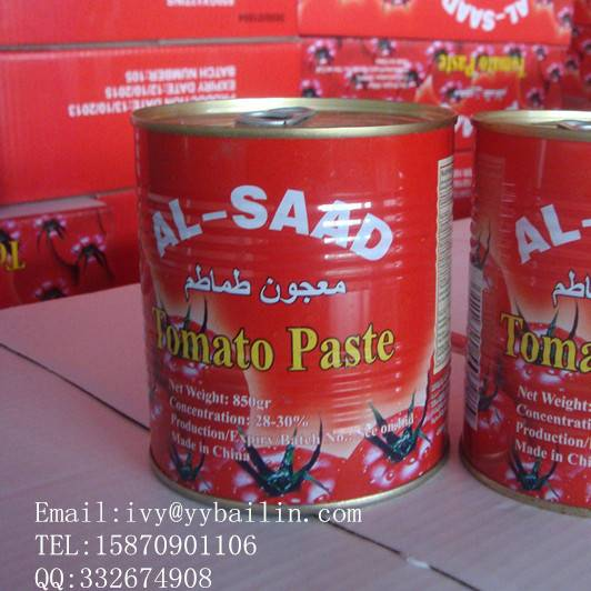 Best quality and competitive price with brix 28-30% canned tomato paste