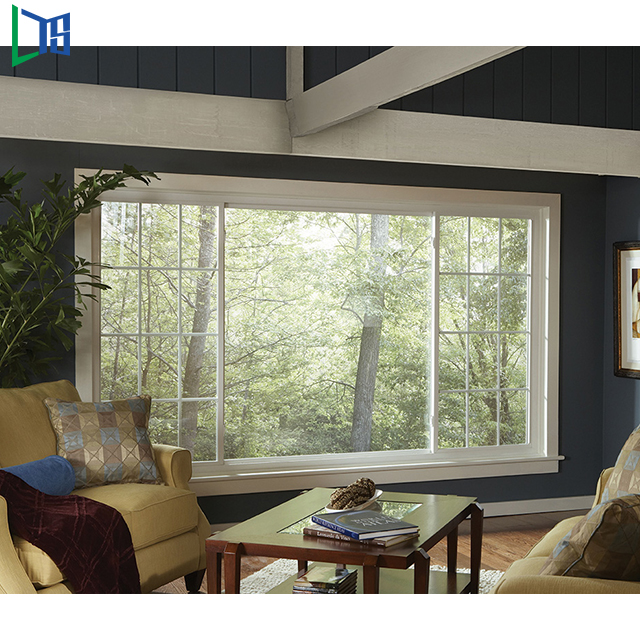 Factory direct selling glass aluminium sliding window designs with insect screen